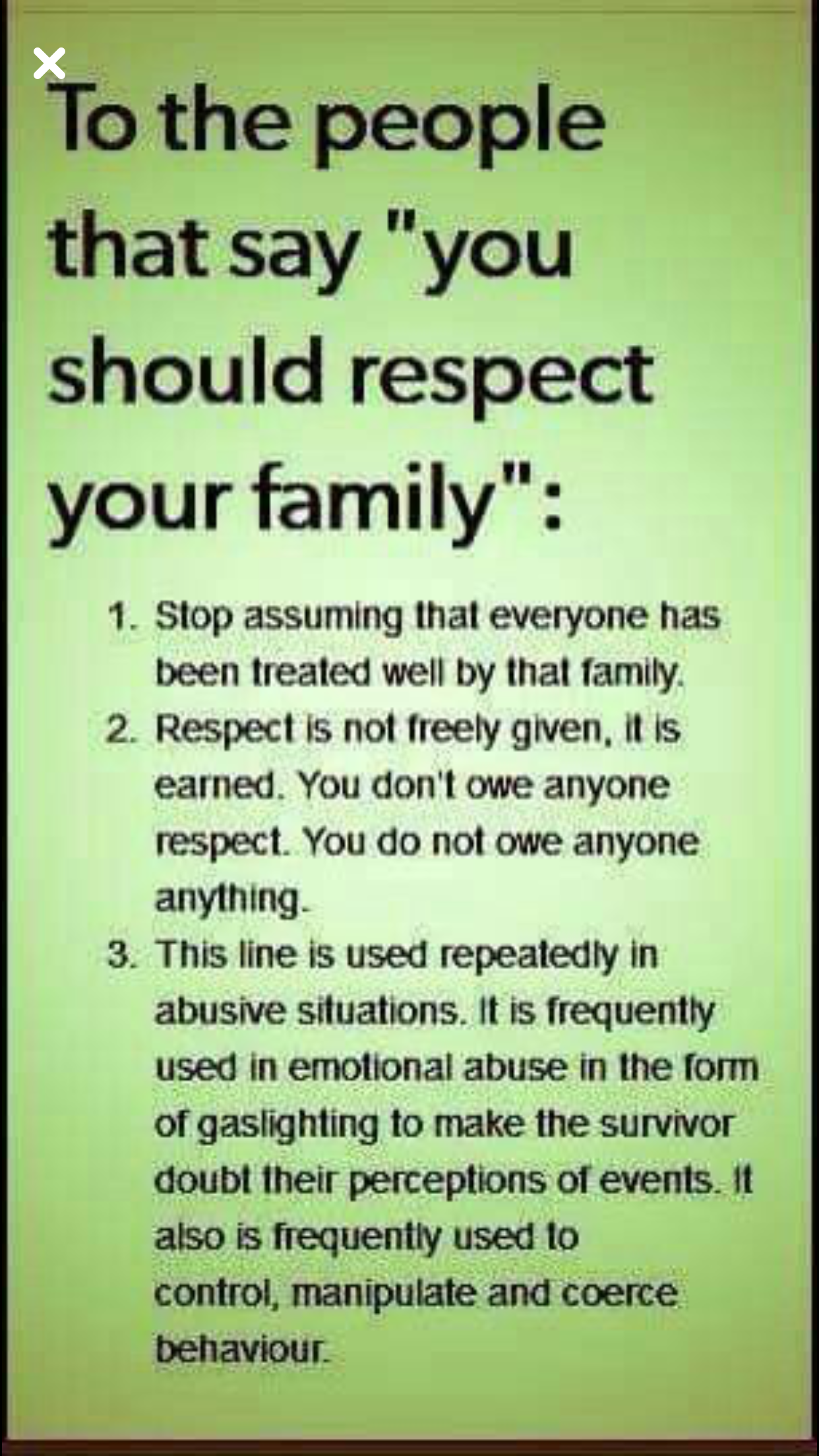 Dysfunctional family: do not be indifferent