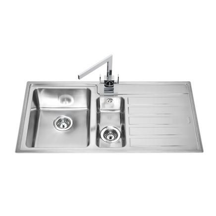 lamona ullswater 1  5 bowl sink   stainless steel kitchen sinks   howdens joinery lamona ullswater 1  5 bowl sink   stainless steel kitchen sinks      rh   pinterest com