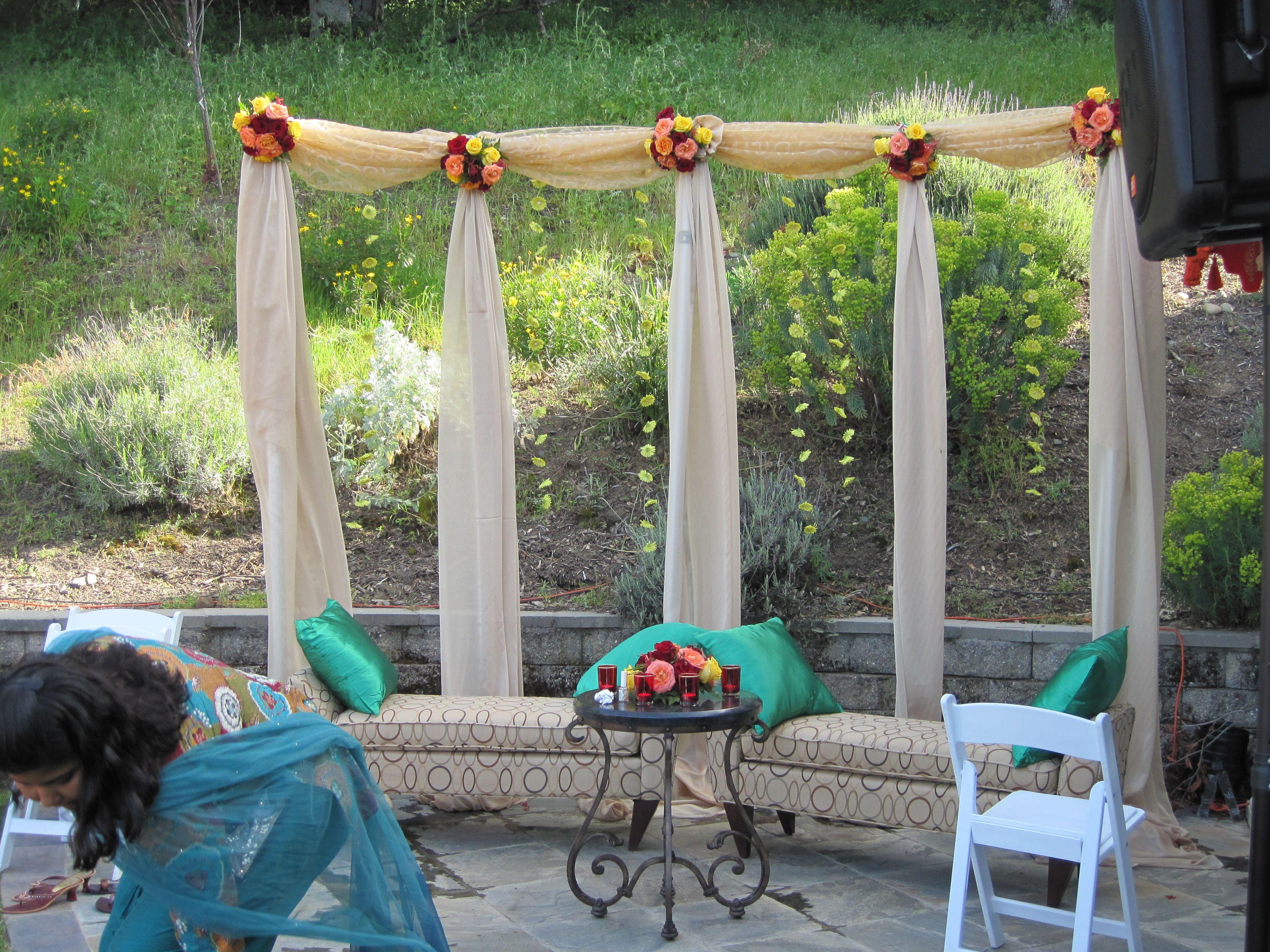 backdrop for backyard mehndi sangeet decoration pinterest