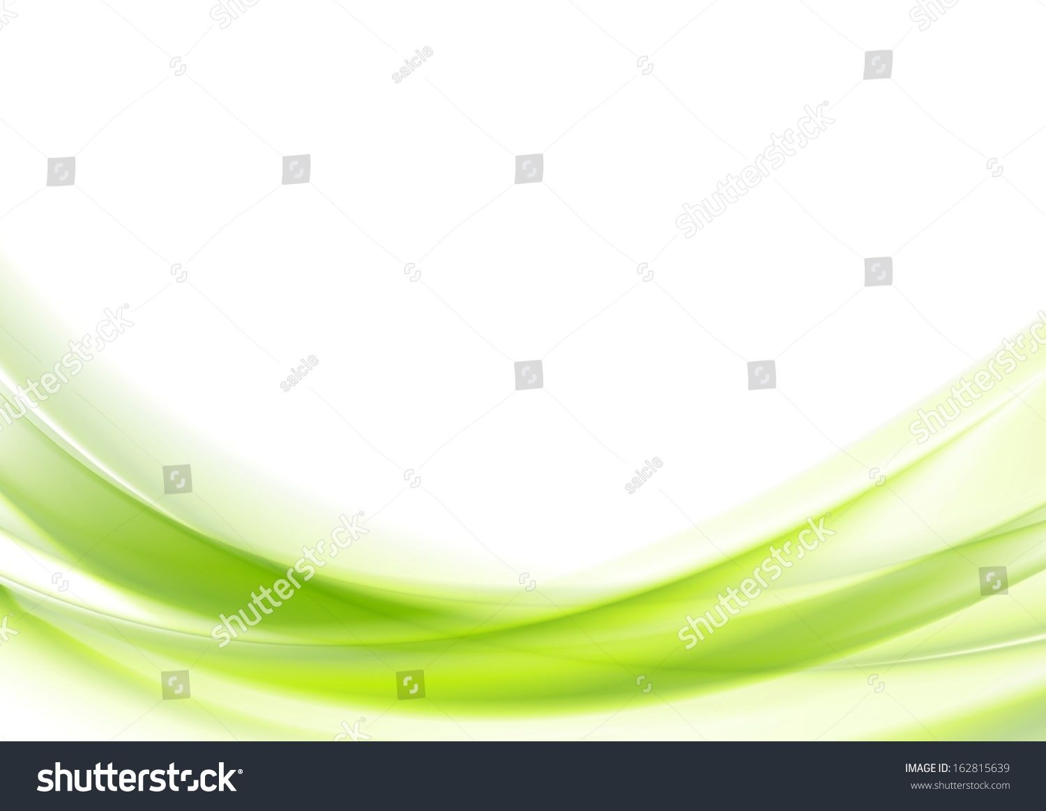 Bright Green Vector Waves Abstract Background Background