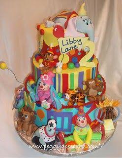 Cute Circus Cake Cake Decorating Pinterest Circus cakes Cake