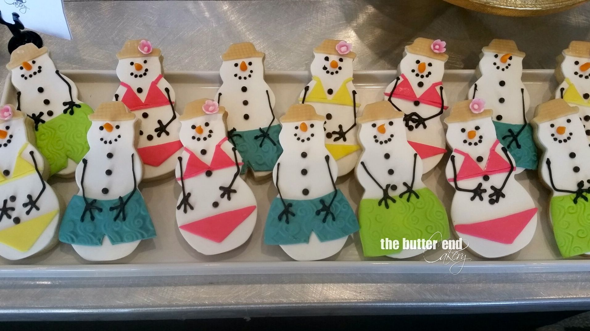 Christmas In July Swimsuit.Adorable Christmas In July Sugar Cookies Snowmen And