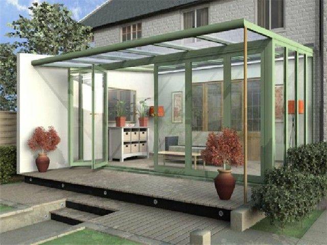 terraza acristalada de estilo minimalista moderno - Terrazas Acristaladas