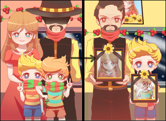 Mother 3 - Lucas's Family Christmas Pictures by DancerQuartz.deviantart.com on @DeviantArt