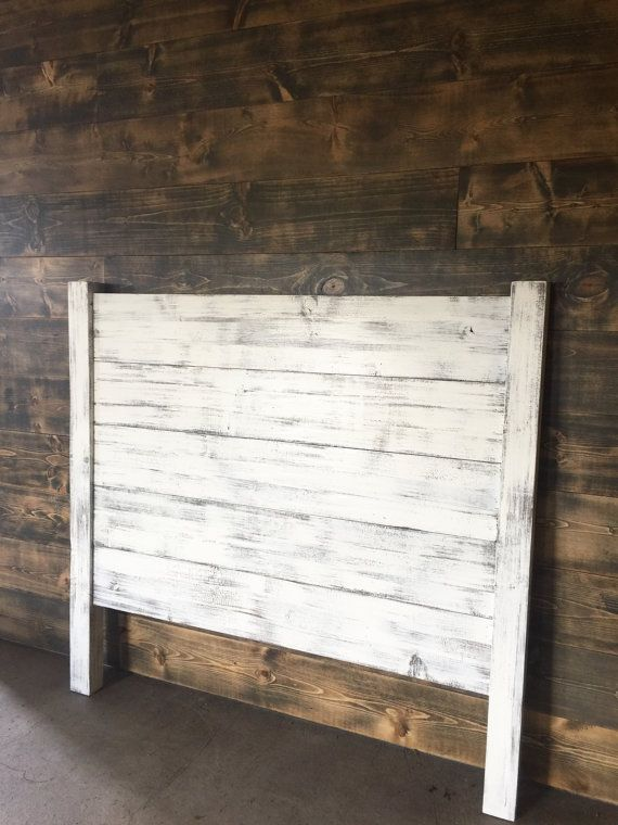Shiplap Headboard Distressed White Shiplap Headboard