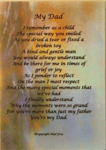 Miss You Birthday Poems For Dad Dad Poems Dad Quotes