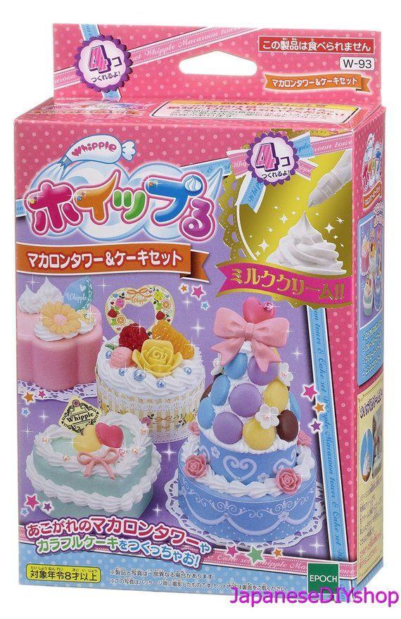 Japanese Diy Whipple Macaroon Tower And Cake Set Fake Sweets