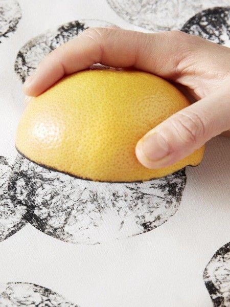 5 diy ideen stempeln mit obst und gem se malen pinterest stempeln basteln und bedrucken. Black Bedroom Furniture Sets. Home Design Ideas