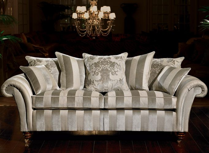 Early Georgian Style Roll Top Arm Fabric Sofa From Duresta
