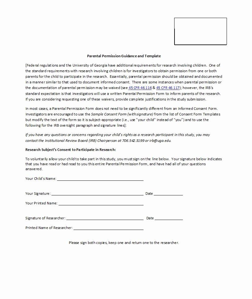 Parent Consent Forms Template Beautiful 50 Printable Parental Consent Form Templates Template Lab Parental Consent Consent Forms Scholarship Thank You Letter