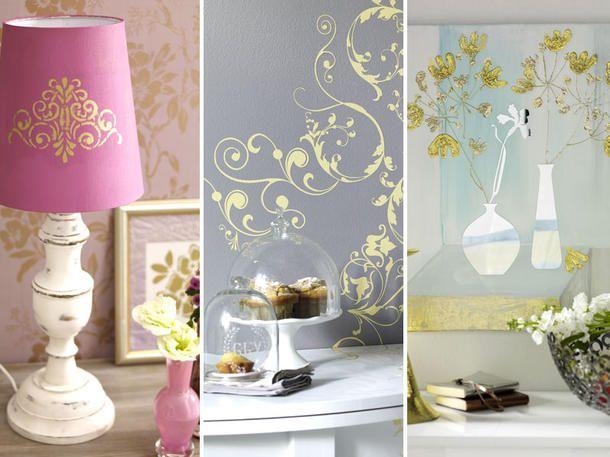 Ach, wie goldig! Gold Dekoration selbermachen! Gold and Dekoration - wohnung dekorieren selber machen