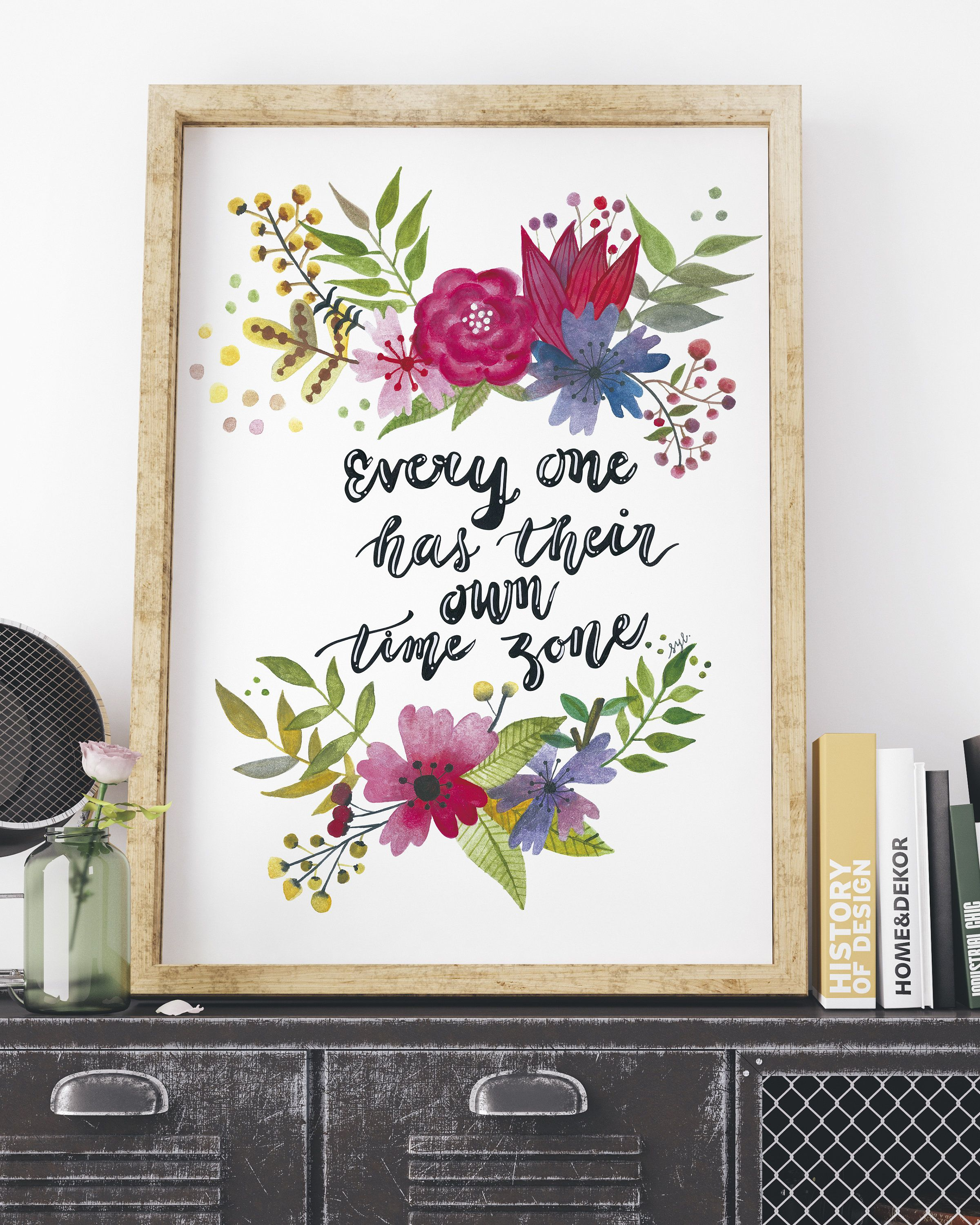 life quote print watercolour poster printable quote typography print