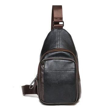 3f2f8ddb33b Men PU Crossbody Bag Capacity Leisure Shoulder Bag in 2019 ...