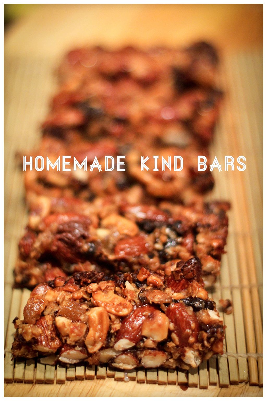 Homemade KIND bars