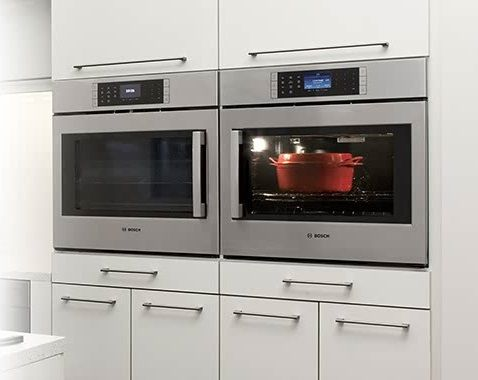 Image result for side by side oven and microwave in wall