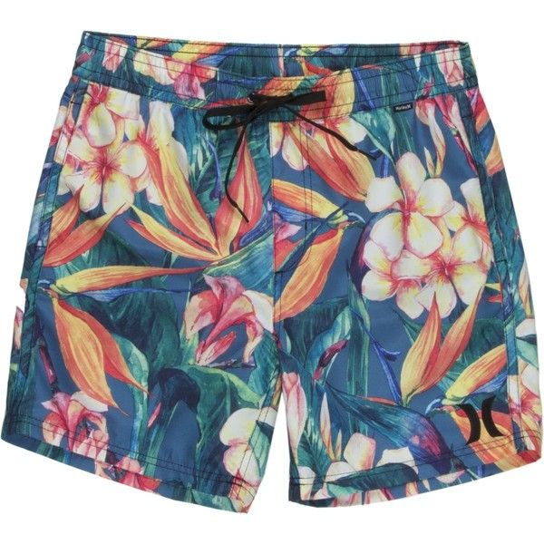 7533622541 Hurley Beach Cruiser Volley Short ($45) ❤ liked on Polyvore featuring men's  fashion, men's clothing, men's activewear, men's activewear shorts, ...