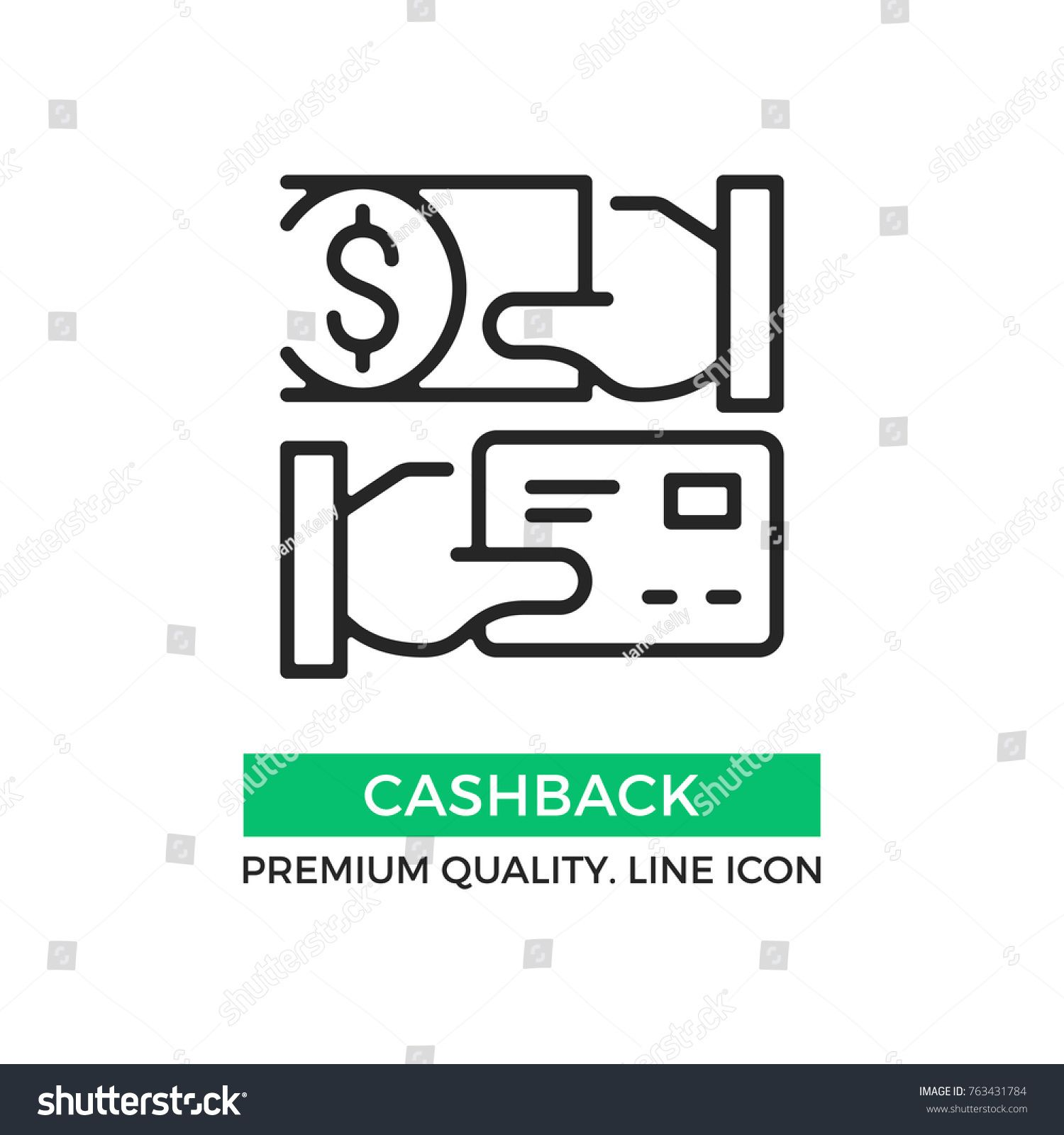 vector cashback icon cash back hand holding credit card and hand holding dollar bill premium quality graphic design element mo in 2020 line icon pictogram cashback pinterest