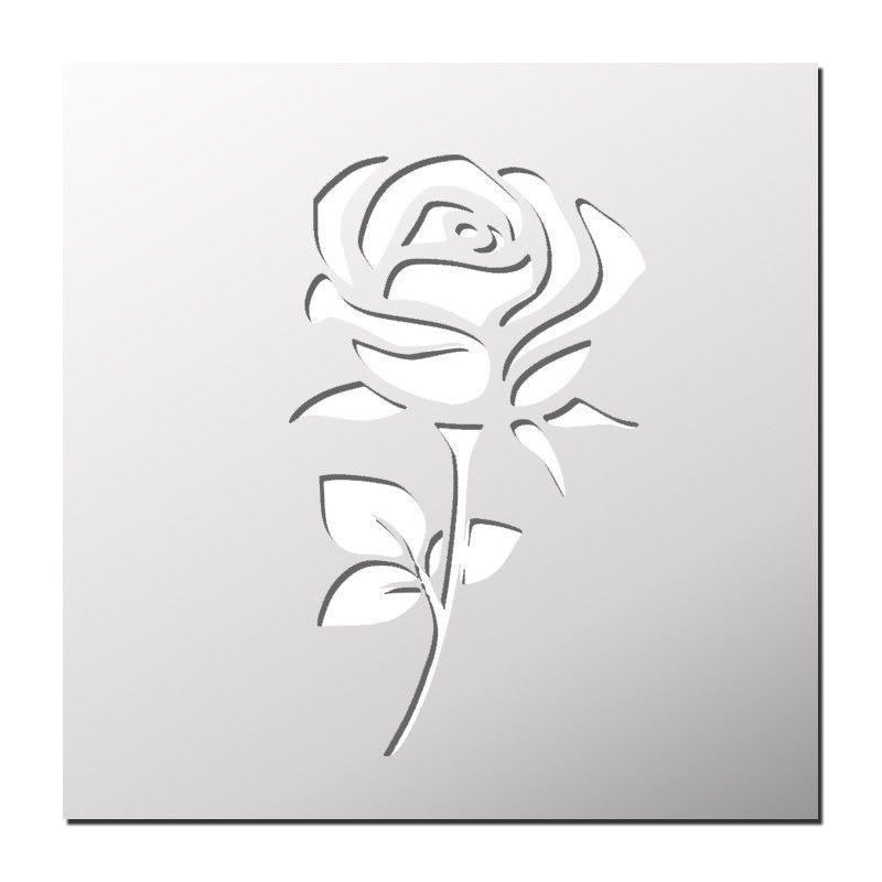 pochoir rose silhouette portrait pinterest pochoir pochoir fleur et dessin. Black Bedroom Furniture Sets. Home Design Ideas