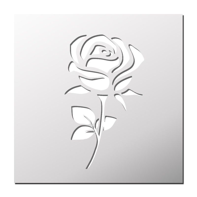 pochoir rose silhouette portrait pinterest pochoir roses et gabarit. Black Bedroom Furniture Sets. Home Design Ideas