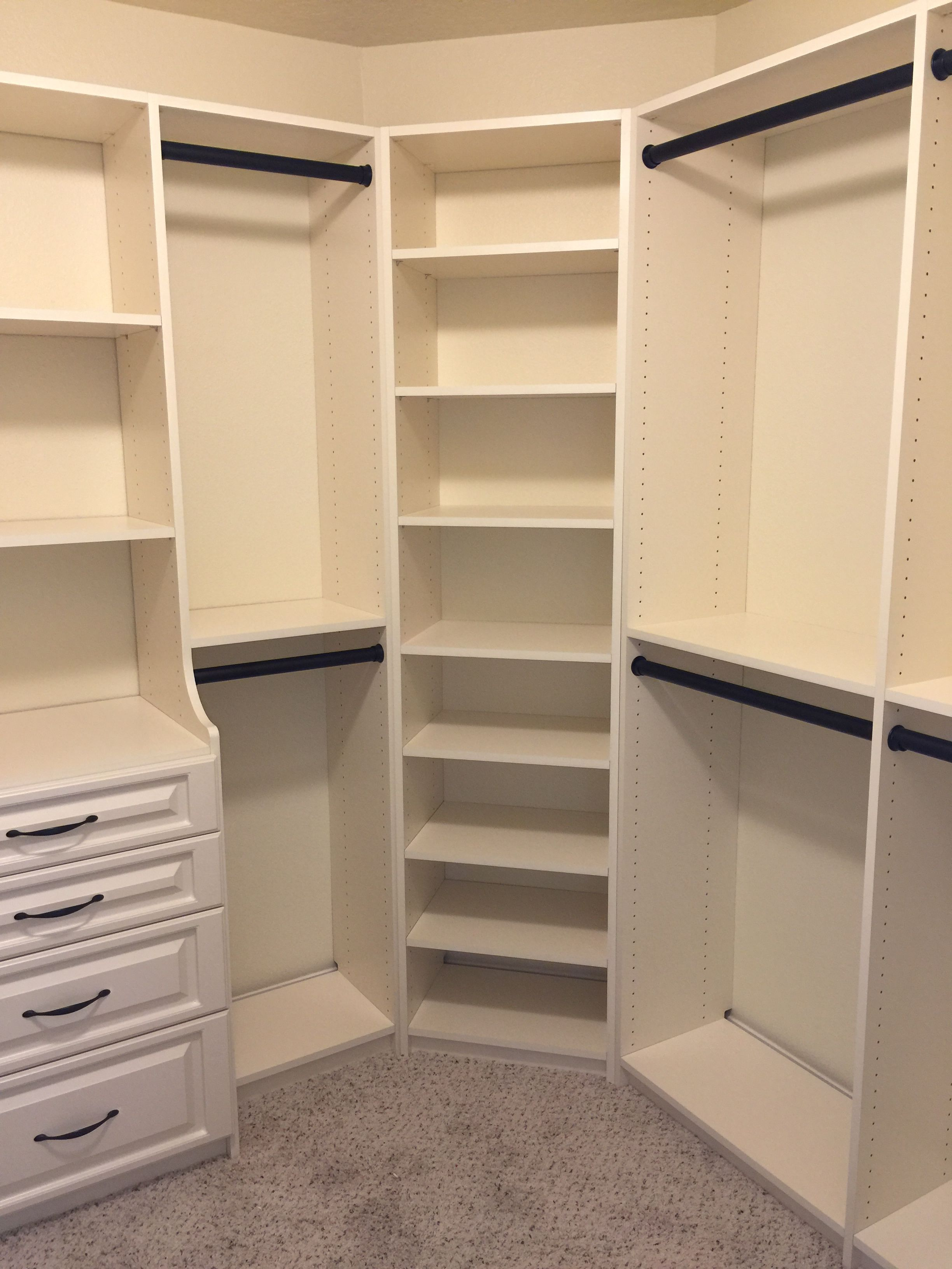 Large Master Closet Ideas Large walk-in closet with plenty of storage space for clothes and shoes