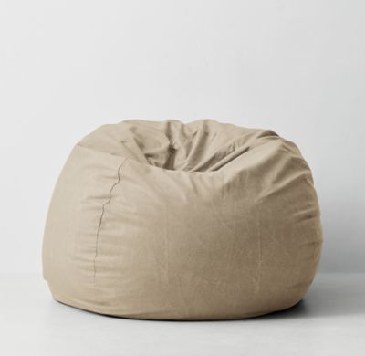 Astonishing Rh Teens Distressed Canvas Bean Bag Cover Natural A Laid Caraccident5 Cool Chair Designs And Ideas Caraccident5Info