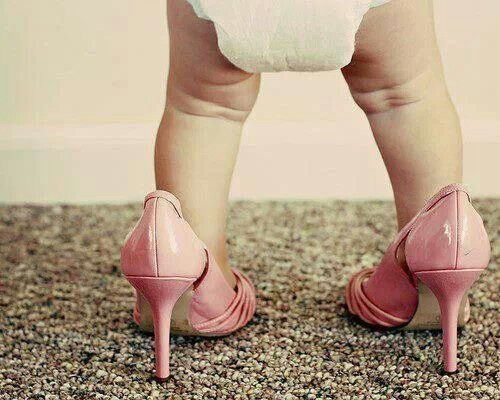 Baby Pink heels on baby