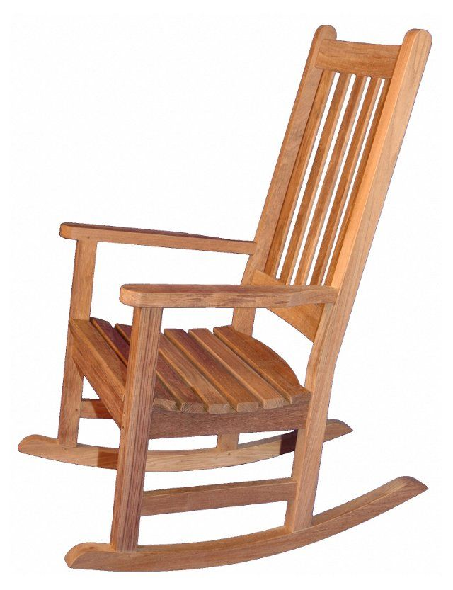 Teak Single Rocker Honey Brown Rocking Chair Teak Rocking Chair Rocking Chair Plans