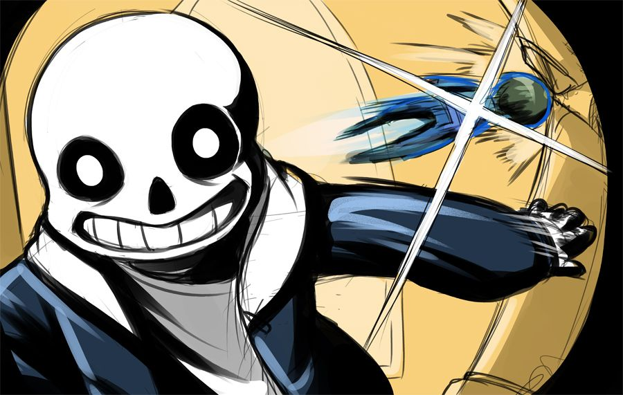 "Row Row Fight da Powah! Someone saw some of my Sans fanart and said ""Oh huh I didn't know he became evil"" and I just HAH HAH HAH HAH"