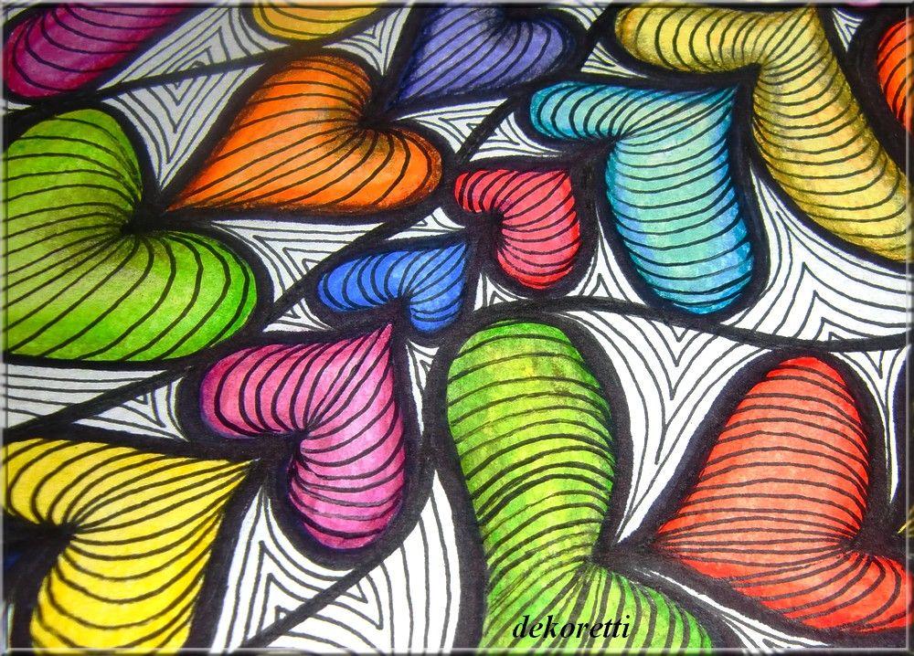 Dekorettis Welt Schön Bunt Zentangle Pinterest