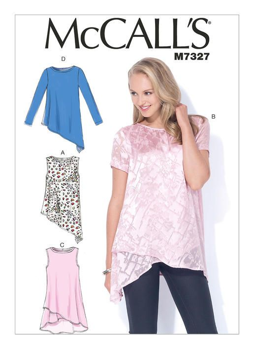 M7327 | McCall's Patterns - I like the bottom of this pattern. It is a more modern look -DB