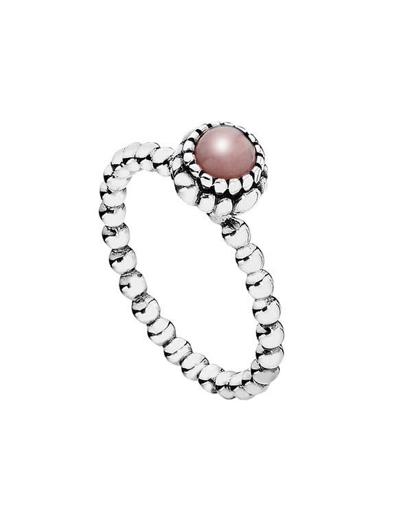 anillo opalo rosa pandora