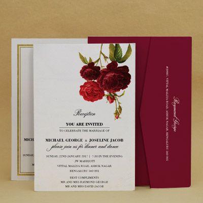 Debonair Reception Floral Cards , E-Card Designs Buy Debonair - rsvp e cards