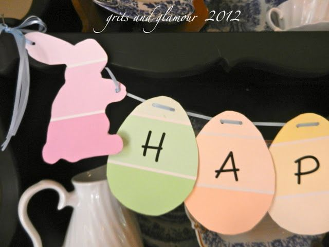 Easter Garland { Thanks Home Depot!} - The Everyday Home