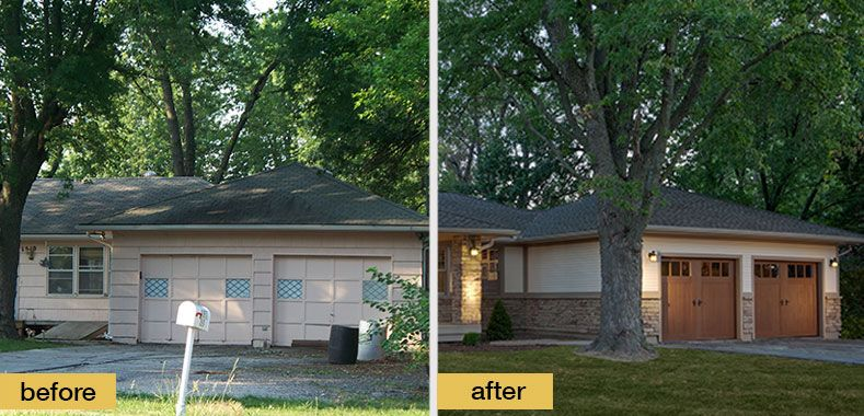 Ranch Home Exterior the dramatic exterior makeover results were revealed today on the