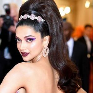Deepika almost tripped on her dress at Met Gala   Deepika ...