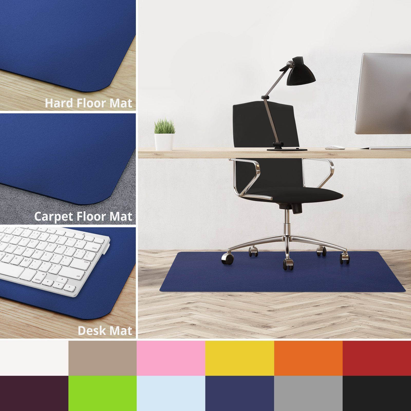 Chair Mat For Hardwood Floors Pool Float Chairs Casa Pura Office Floor 30x48 Desk Hard Matsdark Blue Bpa Free Odorless Matching Mats Available Read More Reviews Of The