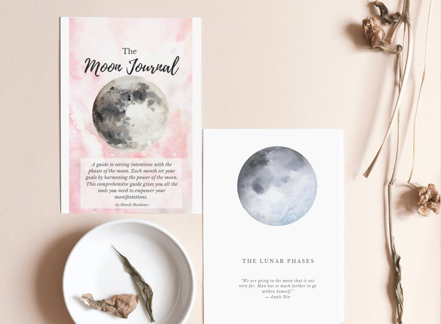 Printable Moon Journal Moon Phase Guide Workbook
