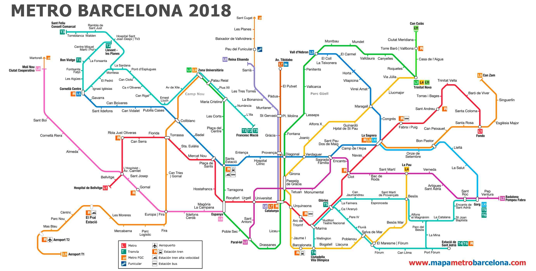 Mapa Metro Valencia 2015.Metro Barcelona 2018 Liniasmetro Transportbarcelona