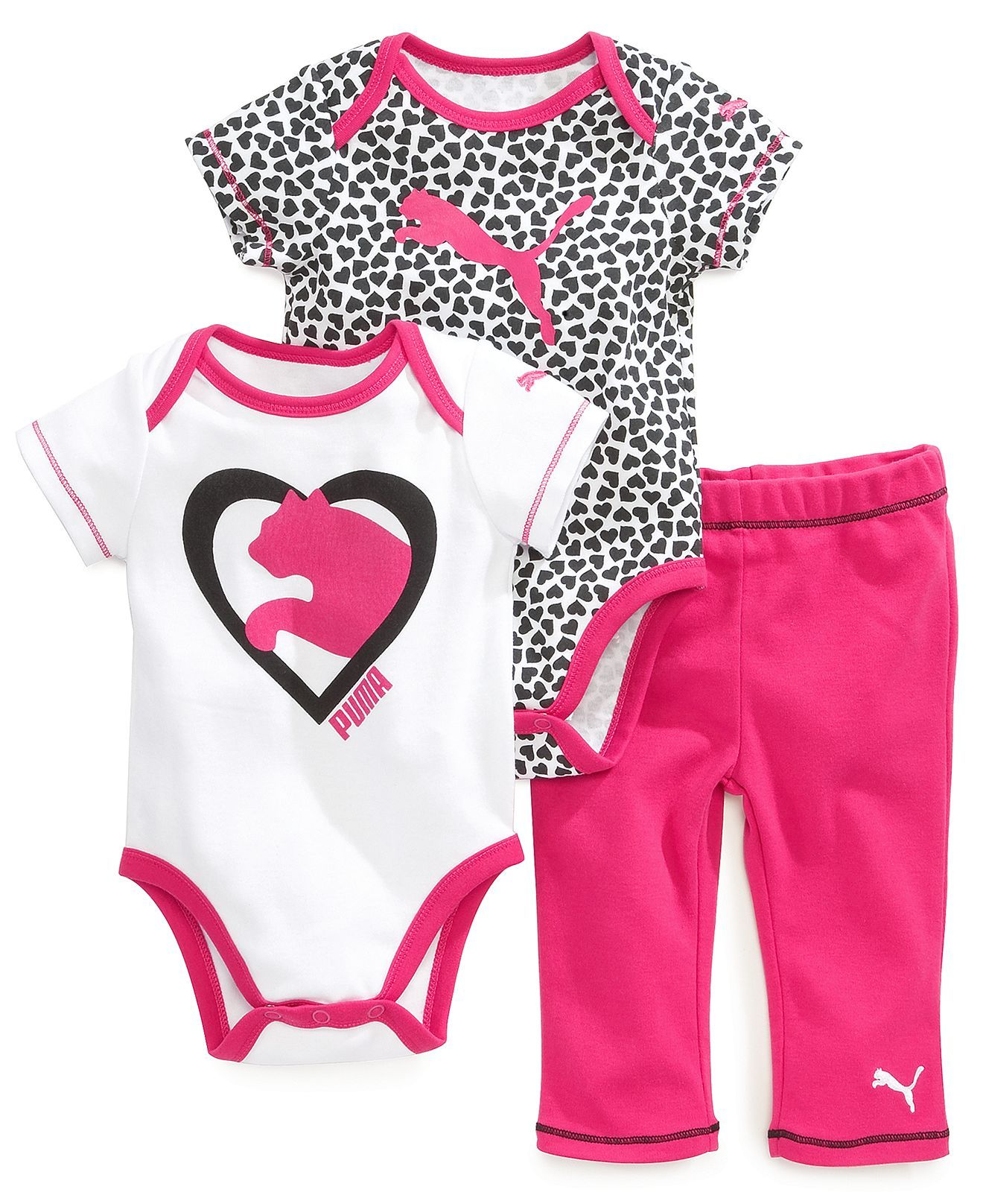 207f01a31 Puma Baby Girls' 3-Piece Heart Set - Kids Baby Girl (0-24 months) - Macy's