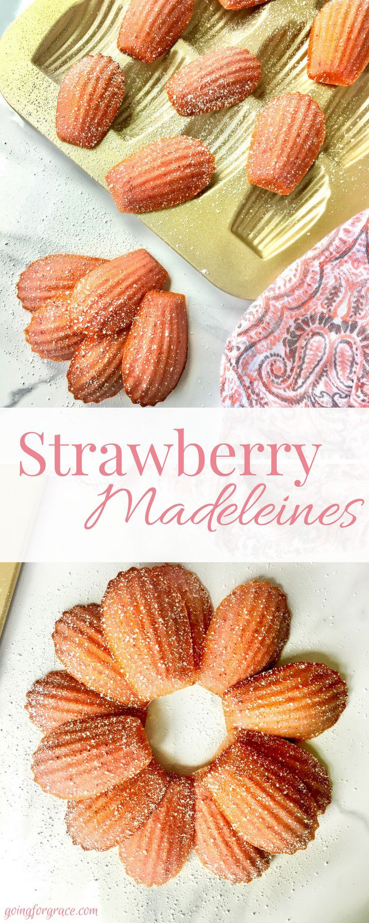 Fresh Strawberry Madeleines - Going for Grace