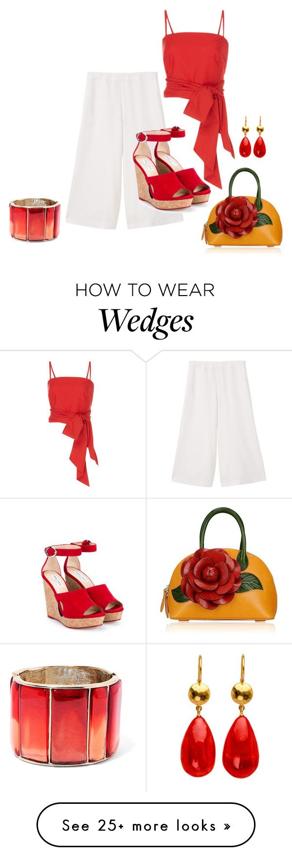 """""""Mid Summer's Eve Party"""" by jakenpink on Polyvore featuring MDS Stripes, MANGO, Jimmy Choo and Oscar de la Renta"""