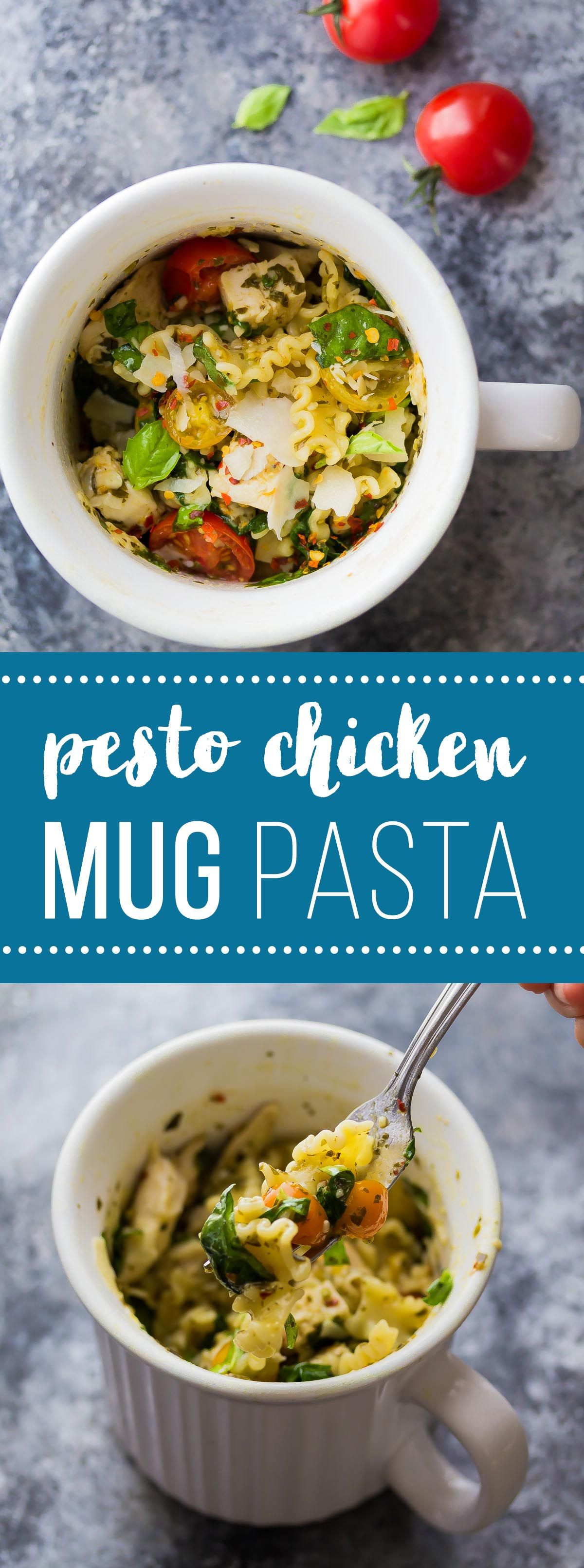 This Pesto Chicken Mug Pasta Cooks In The Microwave In Just 10 Minutes! The  Perfect Dinner For One, Dorm Room Meal, Or Lunch On The Go! View The Full  Rec. Part 97