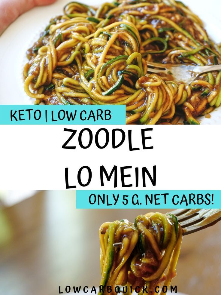 Photo of Keto Zoodle Lo Mein Stir Fry — LOW CARB QUICK