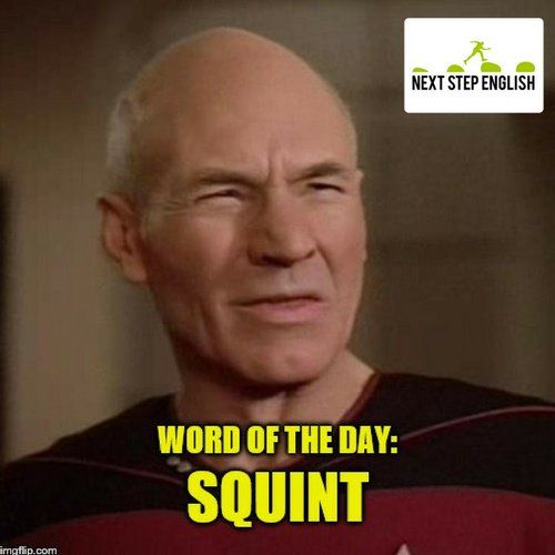 Visit To Find Out The Definition And See Example Sentences With Squint!  Word Of The Day, Visual English, Advanced English Vocabulary, Fluent  English Words, ...