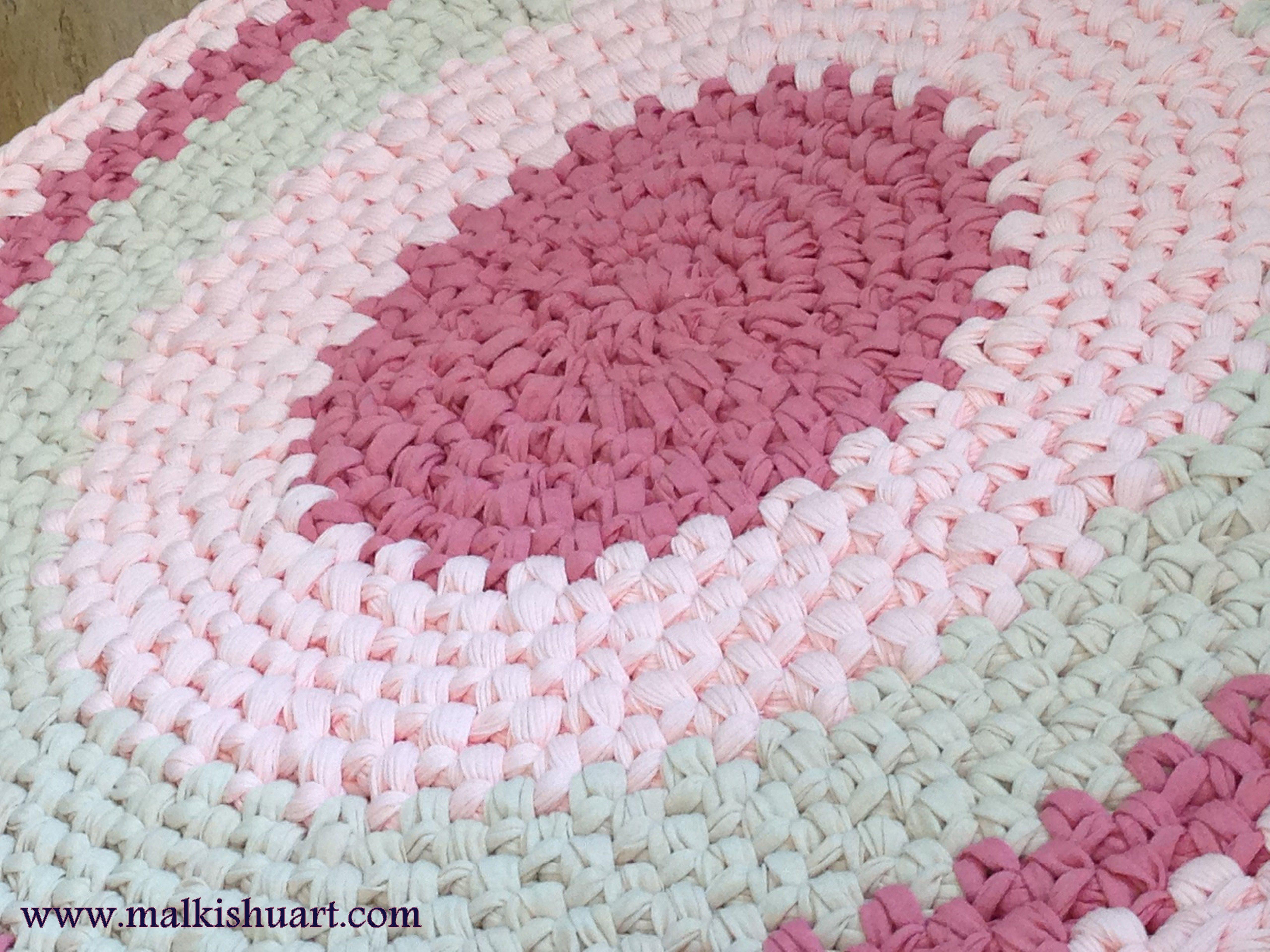 A Crochet Handmade Rug Made Of T Shirt Yarn  Trapillo