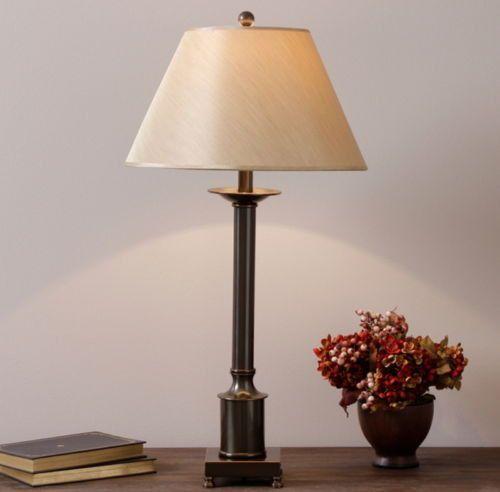 Modern Table Lamp Light Fabric Rich Antique Bronze Finish Stylish Home Decor New