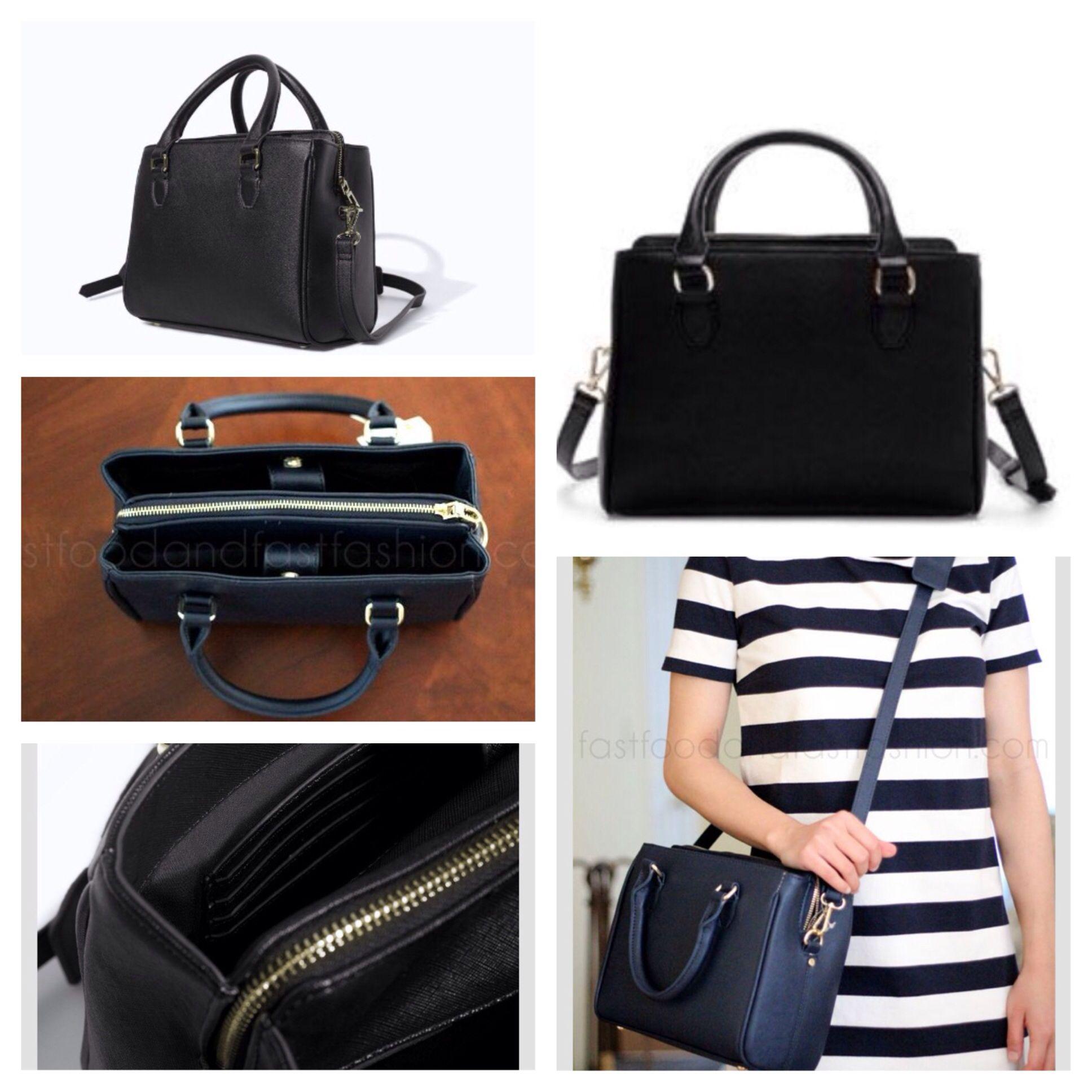 Mini leather tote bag zara - Zara Mini Office City Bag