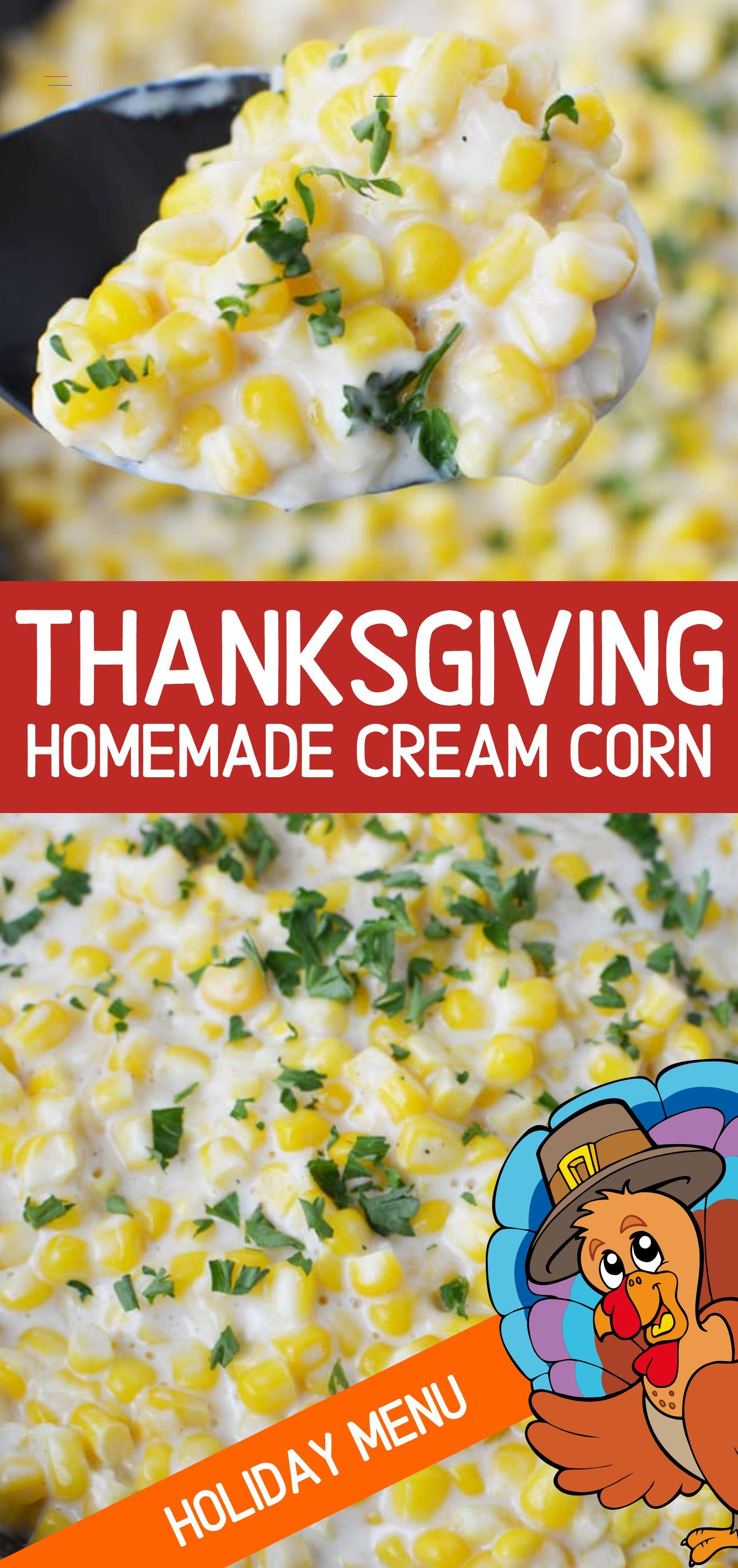 Thanksgiving Cream Corn Recipe Thanksgivingsidedishes In 2020 Avondeten Thanksgiving Bijgerechten
