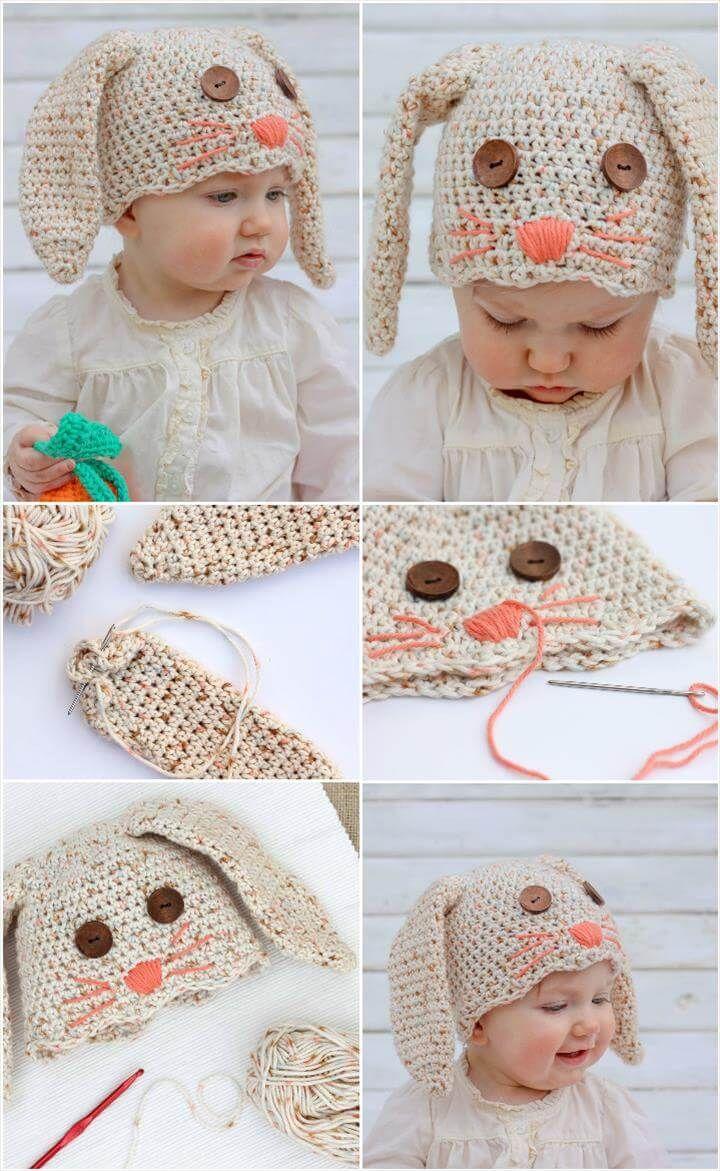 Crochet-Baby-Bunny-Hat.jpg (720×1171) | carnabal | Pinterest | Costura