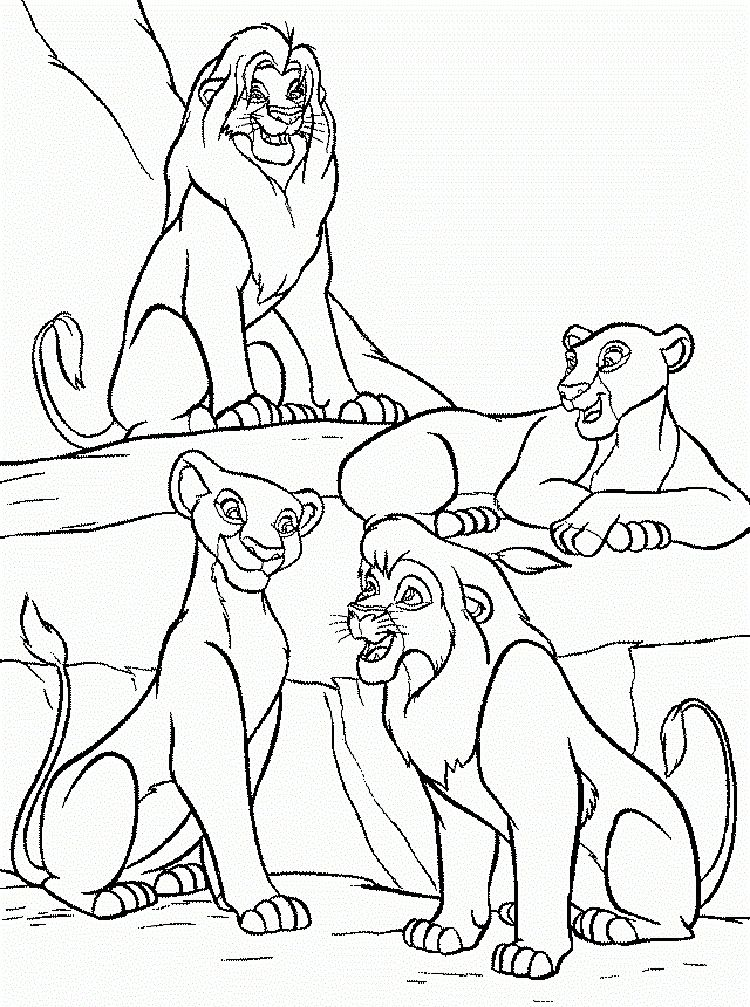 lion king coloring pages nala | Coloring Pages For Kids | Pinterest ...